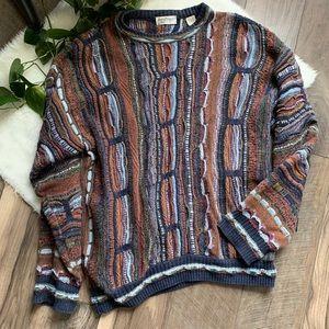 Vintage 90's Norm Thompson sweater SZ L Coogi styl